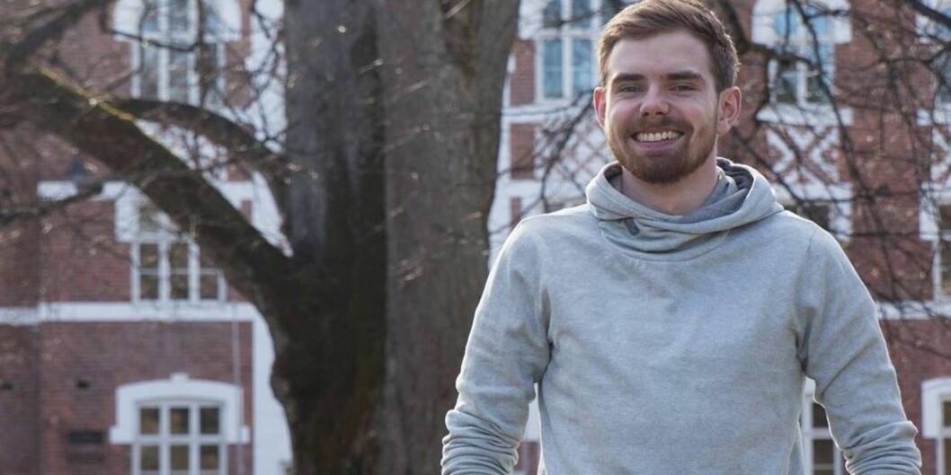 """Jonas Wettre Thorsen er nyvalgt og påtroppende leder for Studenttinget <span class=""""caps"""">NMBU</span>. Foto: ChristineBlix"""
