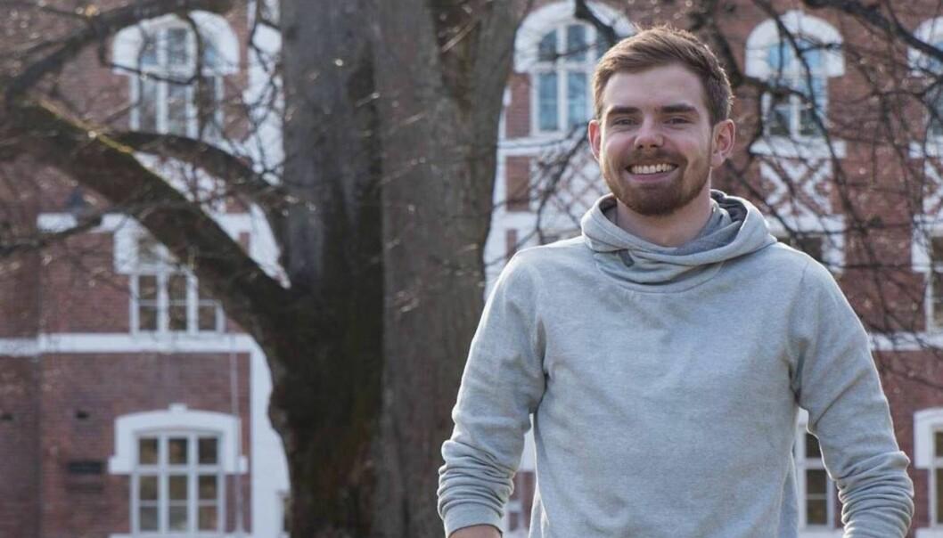 Jonas Wettre Thorsen er nyvalgt og påtroppende leder for Studenttinget NMBU. Foto: ChristineBlix