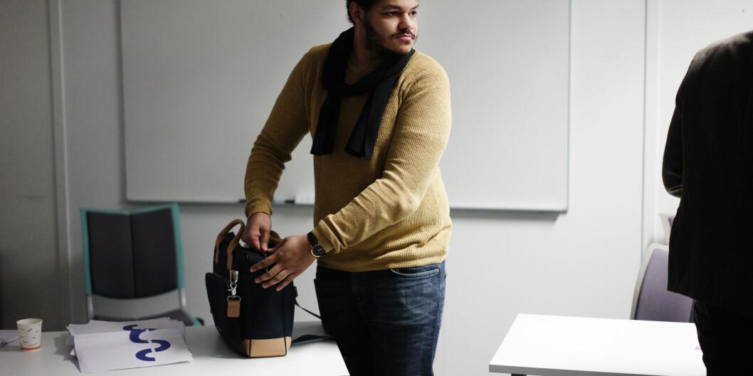 Studentleder Michael Melbye ved Høgskolen i Sørøst-Norge er Norges best betalte, mens studentlederen ved Universitetet i Bergen er blant de dårligstbetalte. Foto: Ketil Blom Haugstulen