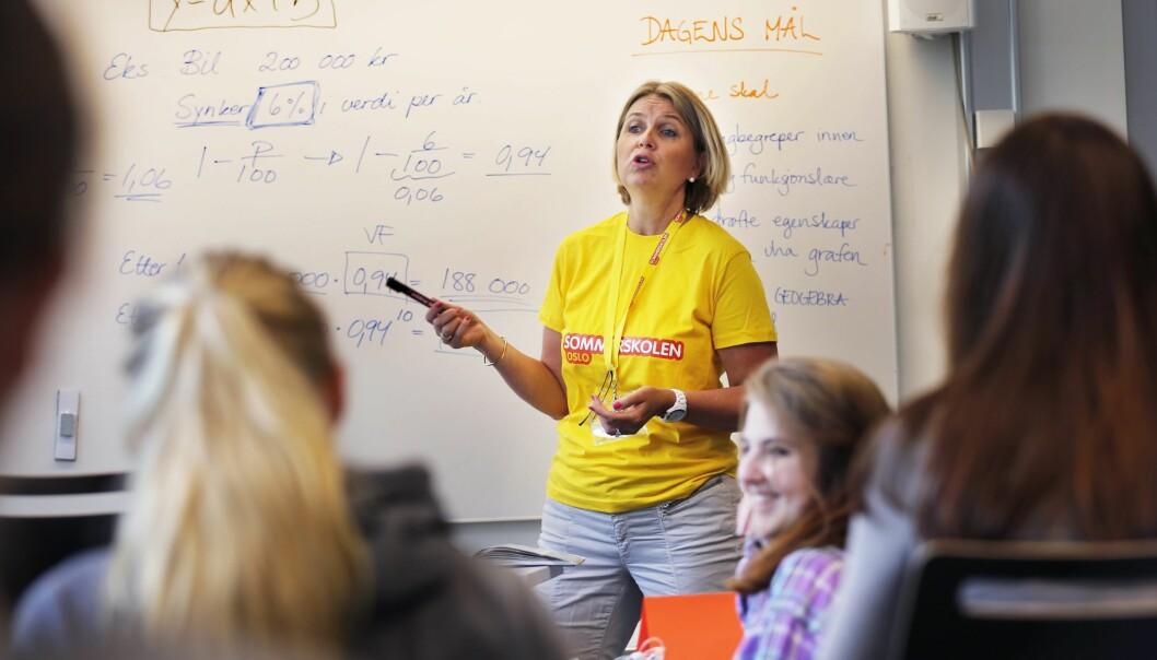 Kristin Vinje er stortingsrepresentant fra Høyre. Her fra Sommerskolen i Oslo i 2016. Foto: Rolf Øhman