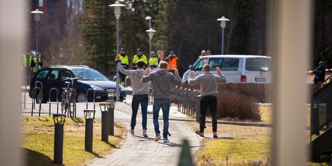 Illustrasjonsfoto fra beredskapsøvelse ved Nord universitet i Bodø i 2018. Foto: Siri Øverland Eriksen