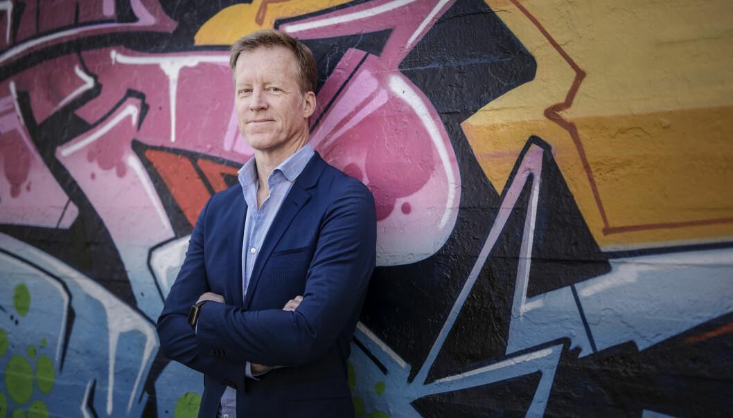 Rektor Curt Rice ved Høgskolen i Oslo og Akershus ønsker seg både et storbynavn og en storbyprofil når høgskolen etter planen blir universitet, muligens allerede om noen få måneder, fra2018. Foto: BENJAMIN A. WARD