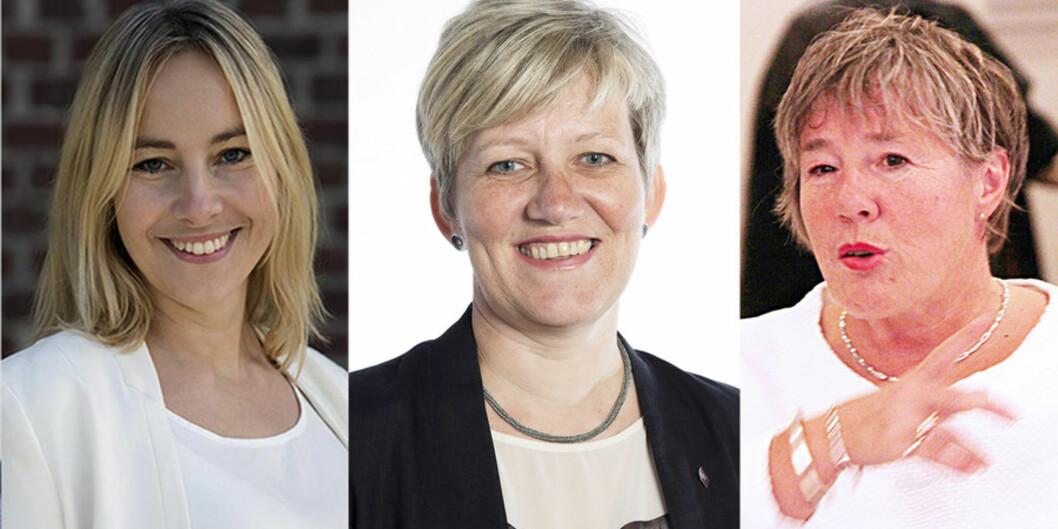 Prorektorar på Høgskulen på Vestlandet er tilsett i dag (f.v.): Gro Anita Fonnes Flaten, Bjørg Kristin Selvik og Liv Reidun Grimstvedt. Fotomontasje: PåHøyden