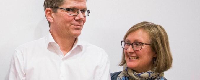 Rektor Svein Stølen og prorektor Gro Bjørnerud Mo, Universitetet i Oslo. Foto: Siri Ø. Eriksen