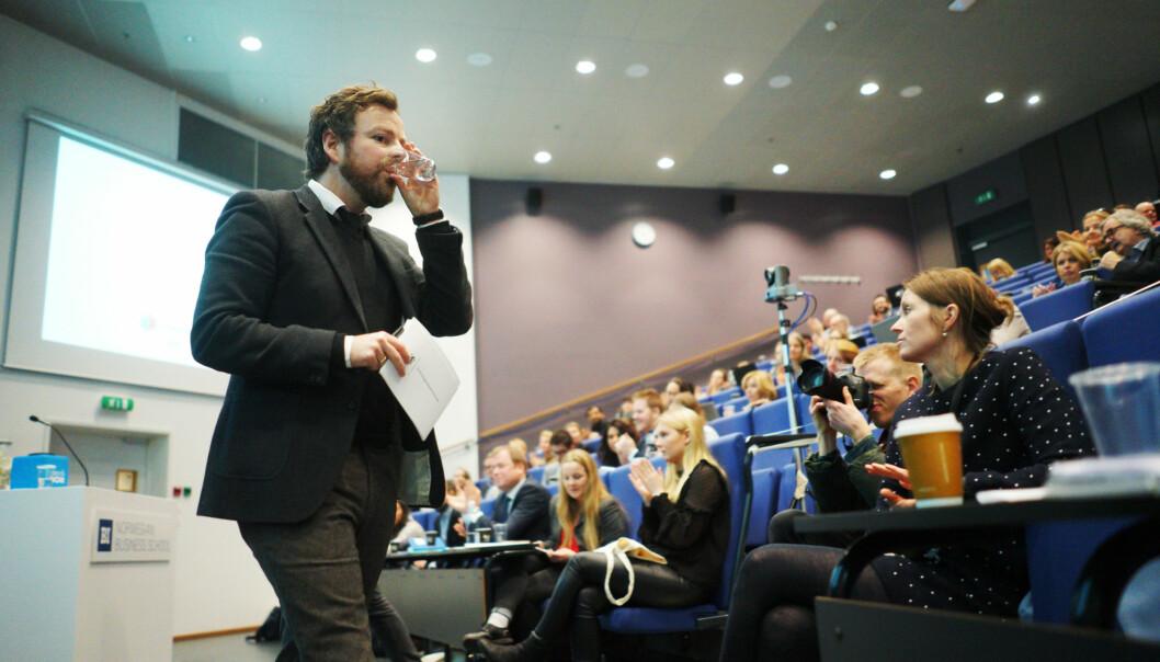 Kunnskapsminister Torbjørn Røe Isaksen på lanseringen av Studiebarometeret 2016.  Foto: Ketil Blom Haugstulen