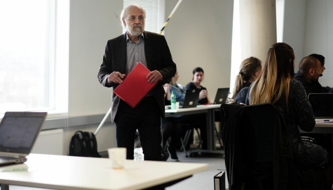 Rektor Petter Aasen ved Høgskolen i Sørøst-Norge håper også på positivt svar på sinuniversitetssøknad. Foto: Ketil Blom Haugstulen