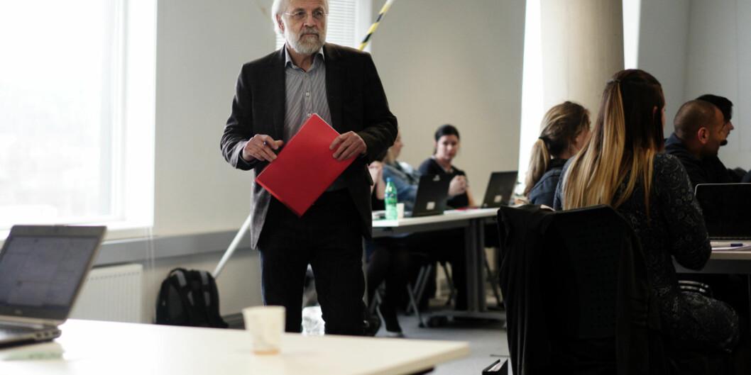 Rektor Petter Aasen ved Høgskolen i Sørøst-Norge får kritikk for å kutte støtten til det øverste studentdemokratiet vedhøgskolen. Foto: Ketil Blom Haugstulen