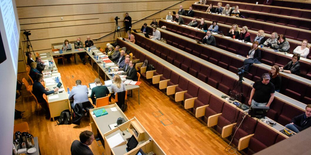 Styret ved UiT vedtok 29. juni at kunstfakultetet skal opphøre som eget fakultet. På et nytt møte 30. november skal det gjøres vedtak om hvor kunstfagene skal plasseres fra 1. januar2018. Foto: Lars Åke Andersen