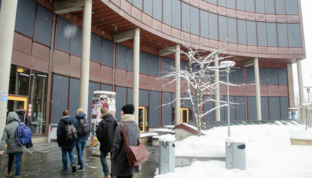 UiT Norges arktiske universitet er et av breddeuniversitetene, her fra campus i Tromsø. Foto: Lars Åke Andersen