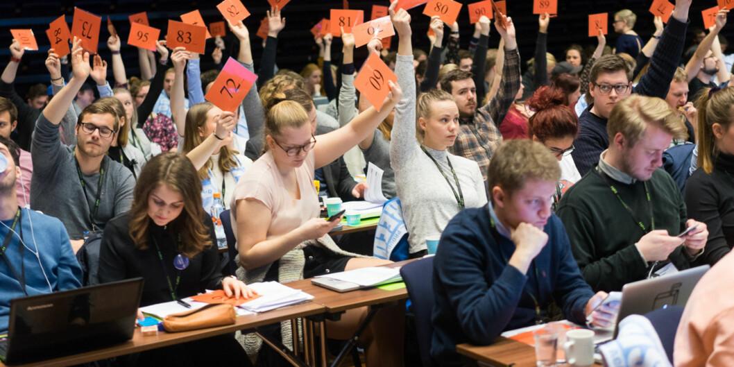 Det er snart landsmøte i Norsk studentorganisasjon. Fem personer har meldt at de stiller som leder og tre personer har meldt at de stiller som nestleder. Foto: Ketil Blom Haugstulen