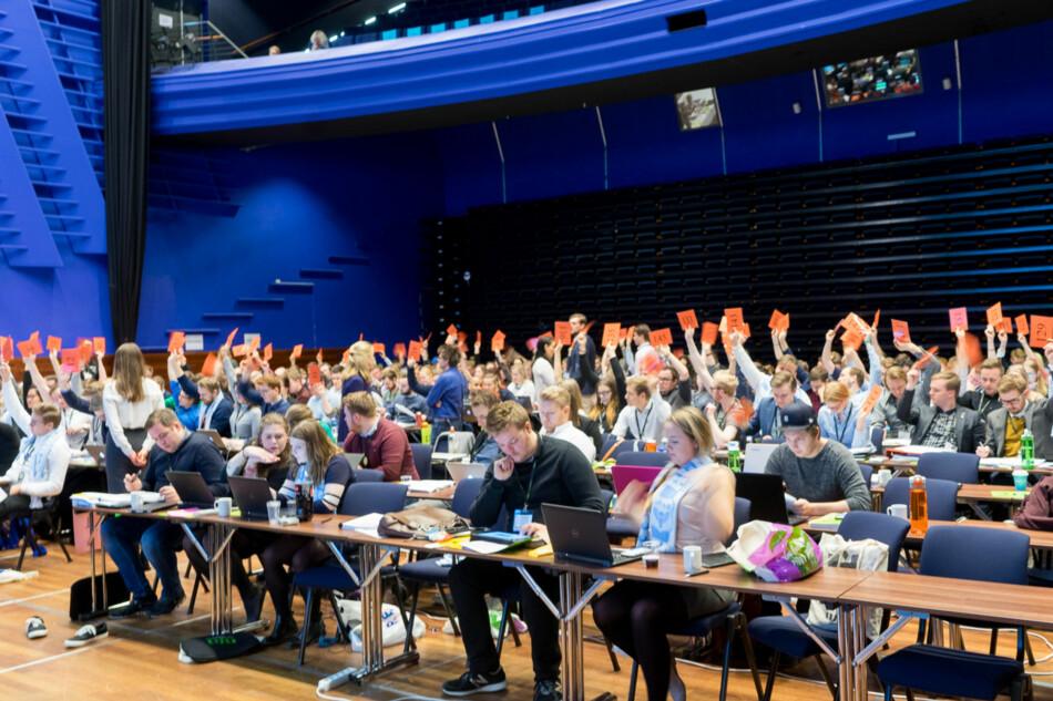 Ledervalg på et tidligere landsmøte i Norsk studentorganisasjon. Foto: Ketil Blom Haugstulen