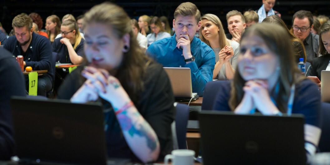 """<span class=""""caps"""">NSO</span>-leder Mats Johansen Beldo vil ha 3000 studentboliger i året, for å kunne nå 20 prosentdekningsgrad. Foto: Ketil Blom Haugstulen"""