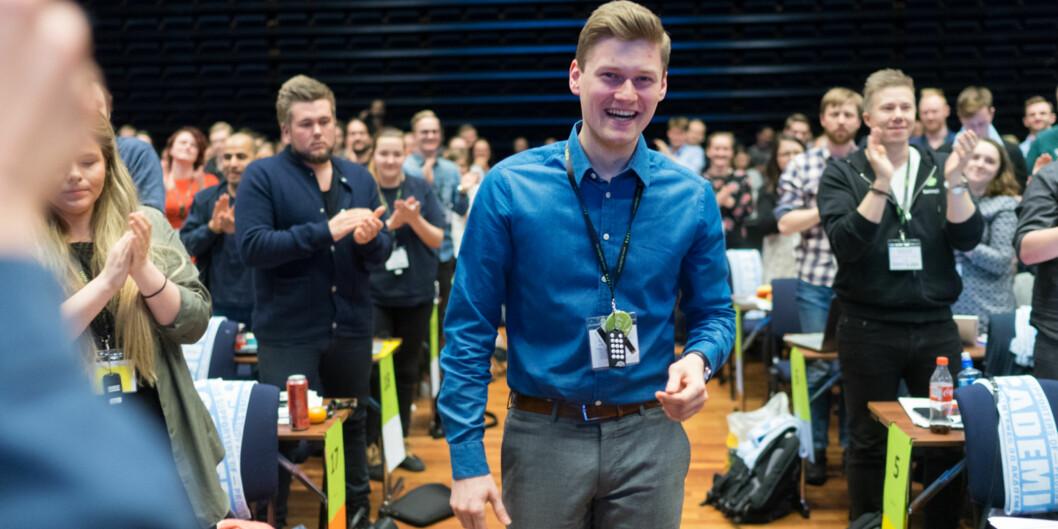 Mats Johansen Beldo fra UiT Norges arktiske universitet er nyvalgt leder av Norsk studentorganisasjon. Foto: KetilBlom