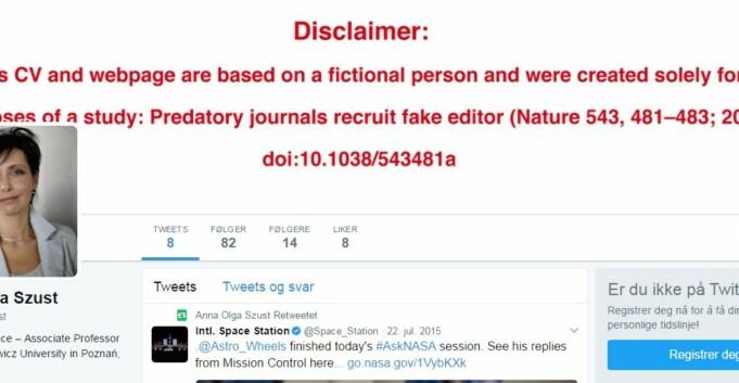 Falsk «forsker» ble tidsskriftredaktør
