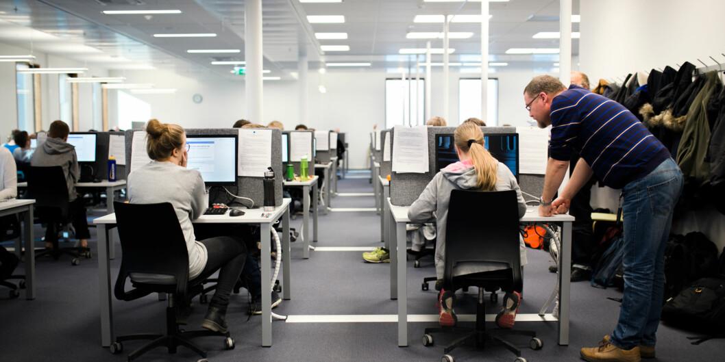 Digital eksamen i matematikk i Silurveien i Oslo.