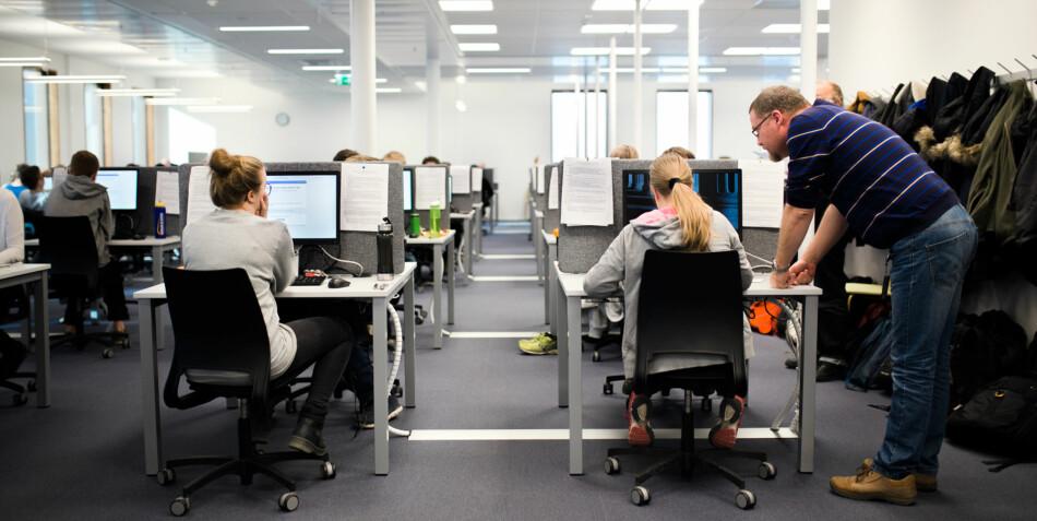Universitetet i Oslo har egne lokaler tilrettelagt for digitale eksamener. Foto: Henriette Dæhli