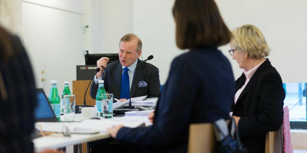 Ole Petter Ottersen er innstilt som ny rektor ved Karolinska Institutet. Her på et møte med universitetsstyret ved Universitetet i Oslo. Foto: Ketil Blom Haugstulen