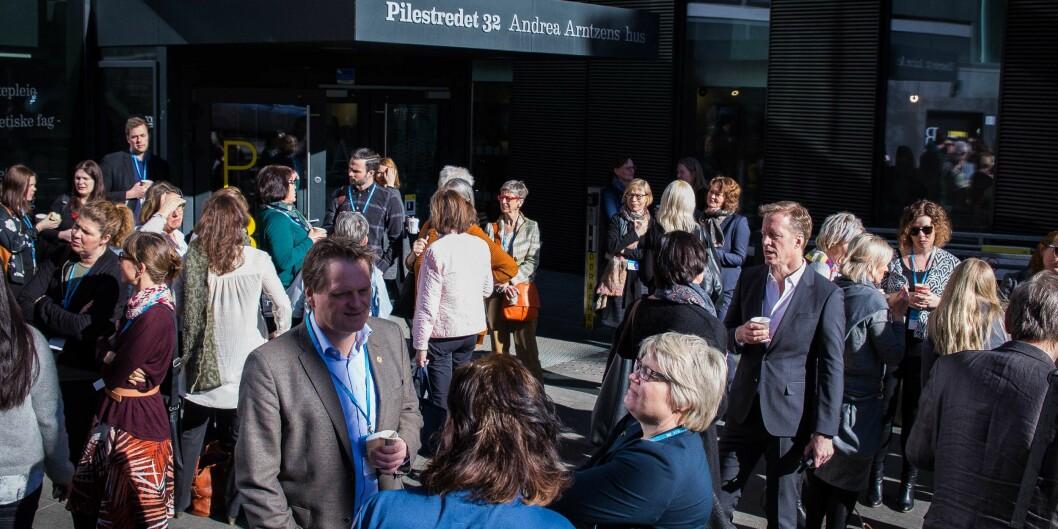 Det gir ikke mening å snakke om avbyråkratisering av forvaltningen, mener Bjørg Halvorsen fra Høgskolen i Oslo og Akershus. Illustrasjonsfoto fra internasjonaliseringskonferansen 2017 som ble avholdt på HiOA. Foto: Siri Ø. Eriksen