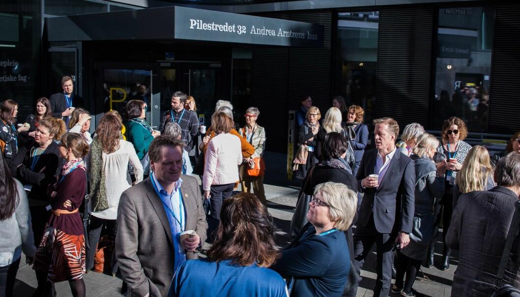 Internasjonalisering er et viktig satsingsområde på Høgskolen i Oslo og Akershus. Her er bilde fra Internasjonaliseringskonferansen 2017 som ble avholdt på høgskolen.