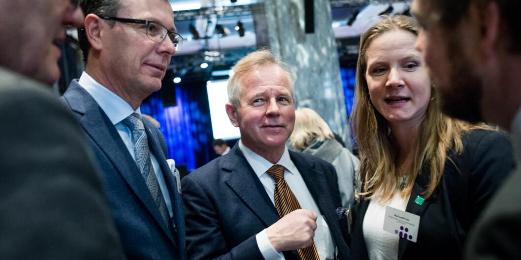 Universitetet til rektor Ole Petter Ottersen, i midten, får flere A-er enn universitetene til rektorene Gunnar Bovim (helt til venstre), Dag Rune Olsen (til venstre) og Mari Sundli Tveit (til høyre) i årets utgave avU-Multirank Foto: Skjalg Bøhmer Vold