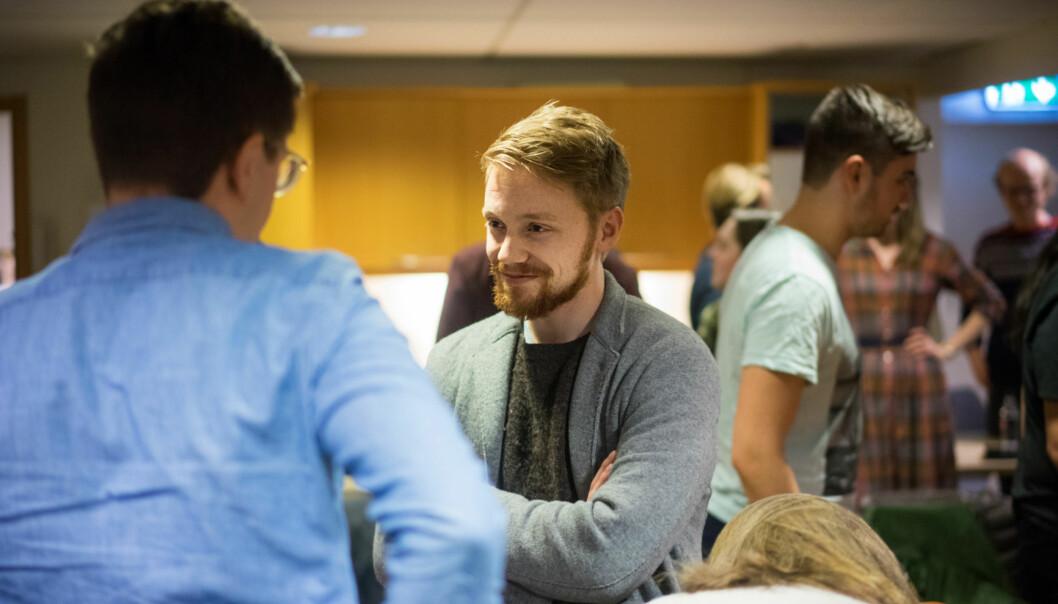 Sittende leder for Studentparlamentet ved Universitetet i Oslo, Hans Christian Paulsen, vil lede Norsk studentorganisasjon. Foto: Ketil Blom Haugstulen