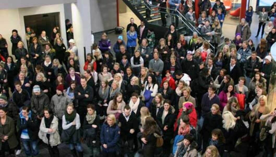Studentene ved Høgskolen i Innlandet mener de snakker for døve ører hos ledelsen av høgskolen. Her fra åpningen av Terningen Arena i Elverum. Arkivfoto: Tidligere Høgskolen iHedmark