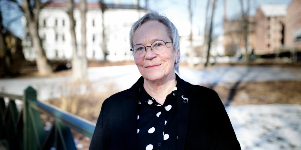 Rektor Kathrine Skretting ved Høgskolen i Innlandet er i ferd med å få på plass sine prorektorer. To skal ansettes i høgskolestyremøtettorsdag. Foto: Henriette Dæhli
