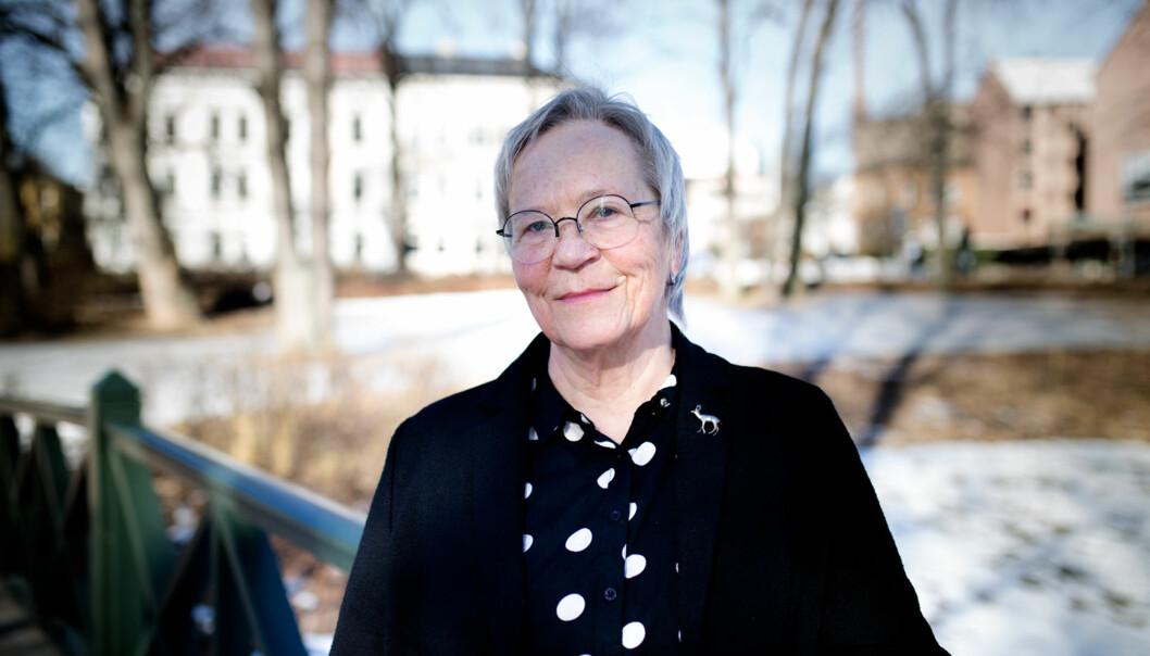 — Jeg er ikke overrasket over at vi må levere et regnskap for hva pengene vi får inn brukes til, sier Kathrine Skretting, rektor ved Høgskolen i Innlandet. Foto: Henriette Dæhli