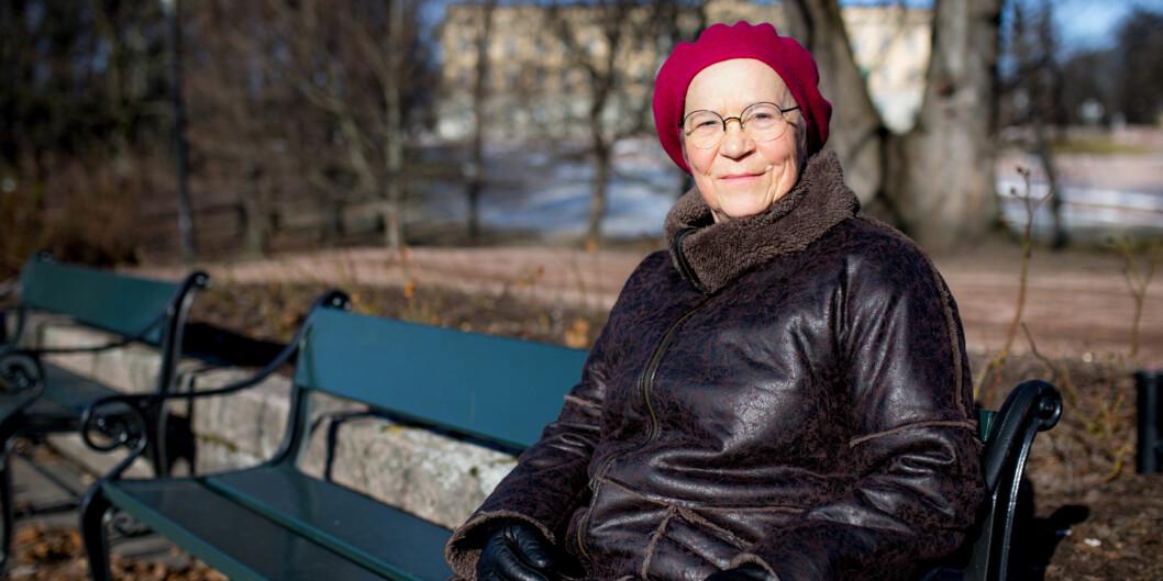 — Det er ikke så mange årtil jeg skalgå av med pensjon, men jeg vil gjerne ha en rektorperiode til, sa filmprofessor Kathrine Skretting (63) som blir rektor ved Høgskolen i Innlandet neste fireår. Foto: Henriette Dæhli