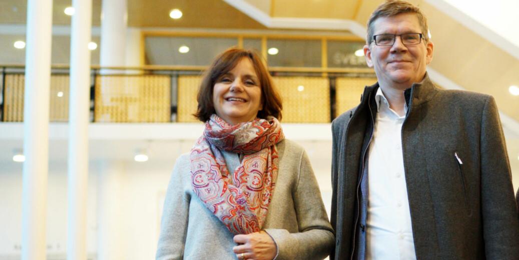 Åse Gornitzka, viserektor for forskning og internasjonalisering, og Svein Stølen, rektor på UiO. Foto: Ketil Blom Haugstulen.