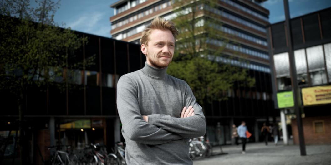 Kandidat til ledervervet i norsk studentorganisasjon, Hans Christian Paulsen, vil at organisasjonen skal bli bedre på medlemslagsoppfølging. Foto: Ketil Blom