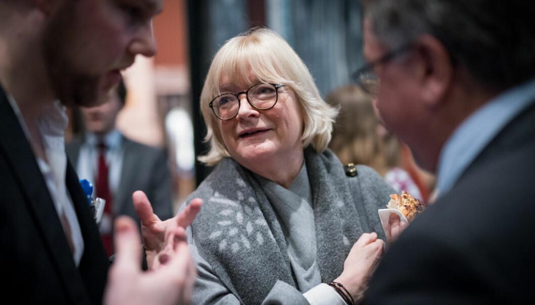 Nytilsatt rektor ved Høgskulen på Vestlandet, Berit Rokne, er best i klassen når det gjelder kjønnsbalanse i ledergruppen, men ledelsen er bare midlertidig. - Målet må være å opprettholde denne kjønnsfordelingen, sierhun.