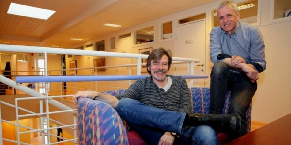 Hvorfor skal man sende studenter på utveksling , og hvorfor akkurat halvparten av dem, spør professorene Olsen og Haugen i Molde. Foto: Arild Waagbø