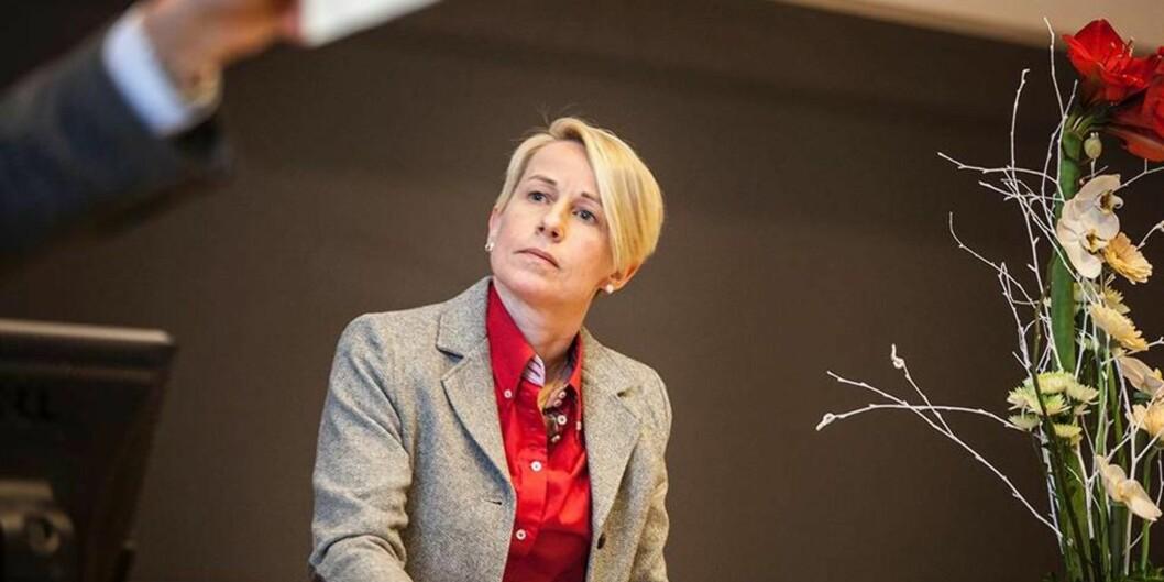 """Ålesund-rektor Marianne Synnes ønsker ikke å utdype mye bakgrunnen for styrets standpunkt, men sier at dette ikke må tolkes som noen form for mistillit mot <span class=""""caps"""">NTNU</span>s styre. <span class=""""caps"""">FOTO</span>: <span class=""""caps"""">KRISTOFFER</span> <span class=""""caps"""">FURBERG</span>"""