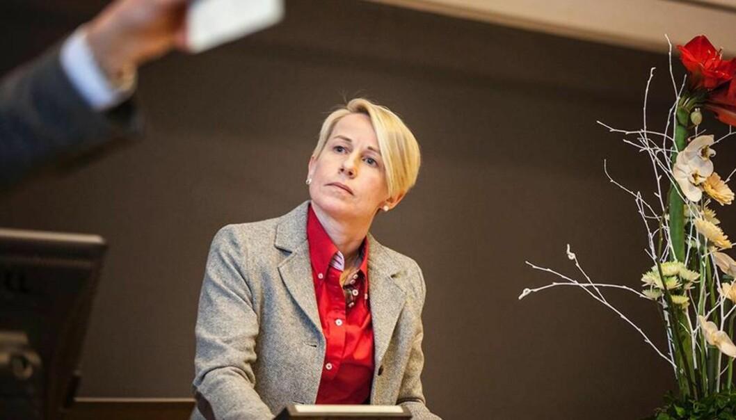 Ålesund-rektor Marianne Synnes ønsker ikke å utdype mye bakgrunnen for styrets standpunkt, men sier at dette ikke må tolkes som noen form for mistillit mot NTNUs styre. FOTO: KRISTOFFER FURBERG