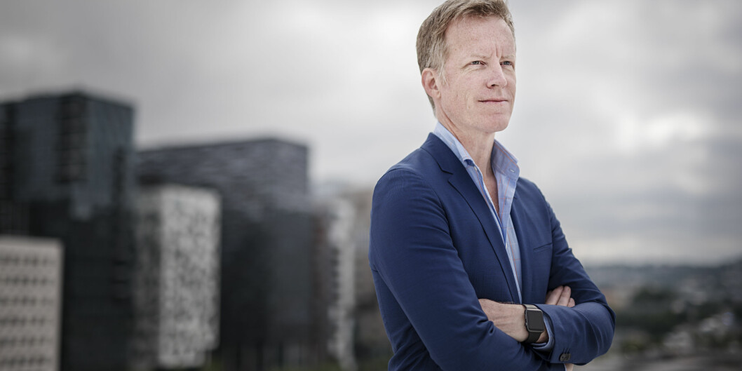 Rektor Curt Rice fremmer kun ett forslag til universitetsnavn overfor styret ved Høgskolen i Oslo og Akershus. Foto: Benjamin A. Ward / HiOA