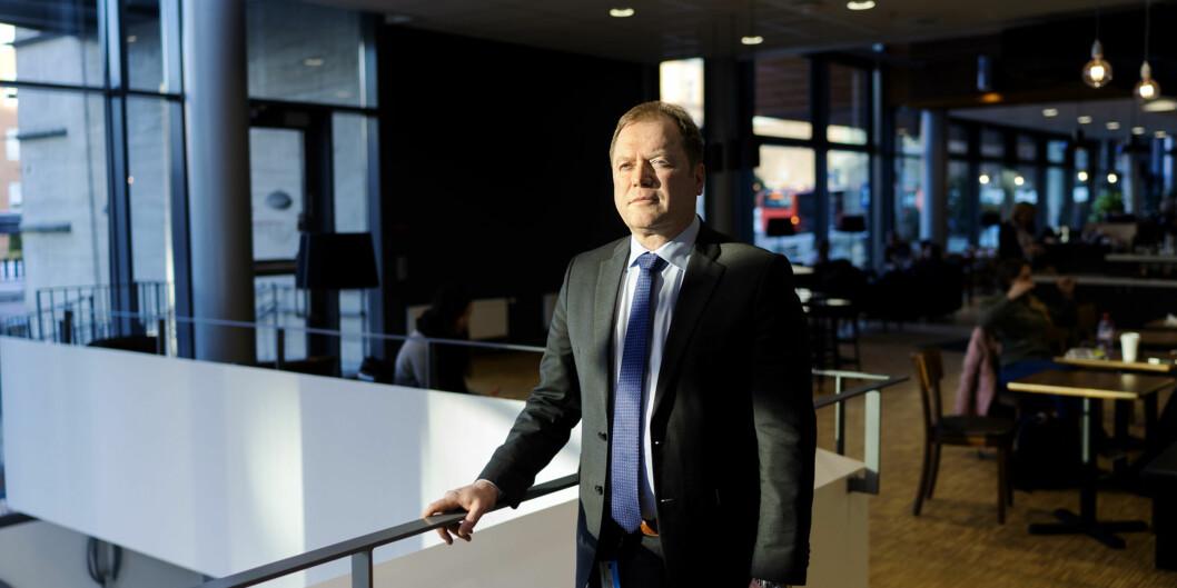 """Inge Jan Henjesand, rektor ved Handelshøyskolen <span class=""""caps"""">BI</span>, tjener mest av alle rektorer iNorge. Foto: Ketil Blom Haugstulen"""