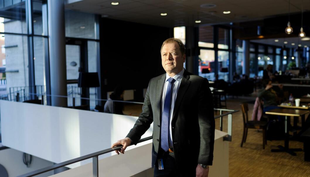 BI-rektor Inge Jan Henjesand sier at rangeringen på Financial Times`samlerangering for 2018 betyr mye for dem. Foto: Ketil Blom Haugstulen