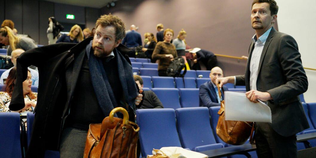 """Mandag presenterte direktør i <span class=""""caps"""">NOKUT</span>, Terje Mørland, Studiebarometeret sammen med kunnskapsminister Torbjørn RøeIsaksen. Foto: Ketil Blom Haugstulen"""