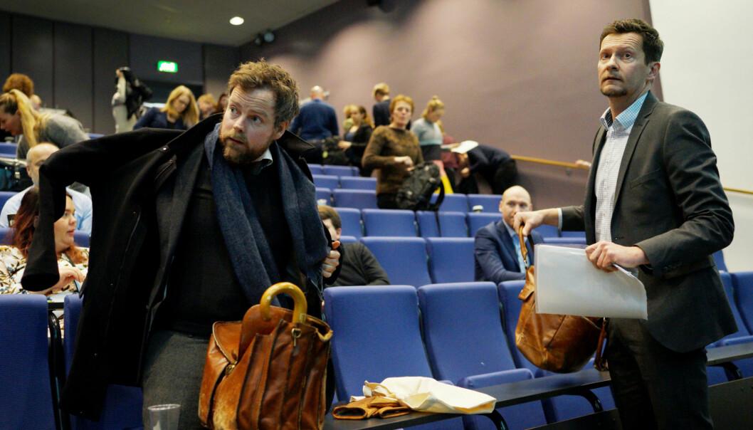 Mandag presenterte direktør i NOKUT, Terje Mørland, Studiebarometeret sammen med kunnskapsminister Torbjørn RøeIsaksen. Foto: Ketil Blom Haugstulen