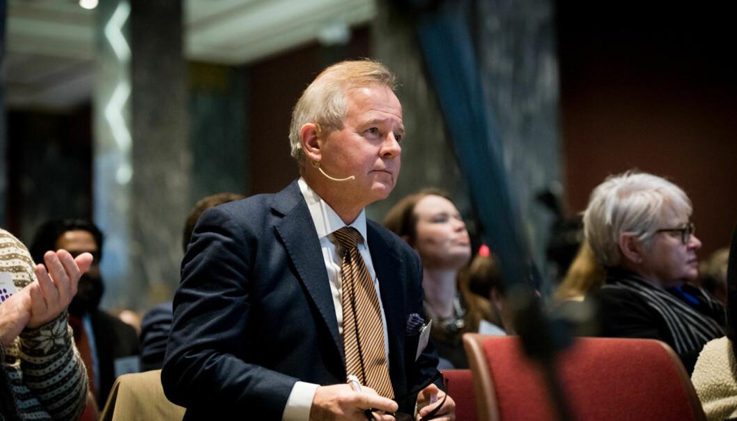 Styreleder ved Göteborgs universitet reagerer sterkt på at UiO-rektor Ole Petter Ottersen knappe tre uker etter at styret anbefalte ham som rektor, trekker seg som rektorkandidat i Göteborg, fordi han skal være aktuell til en rektorstilling iStockholm. Foto: Skjalg Bøhmer Vold