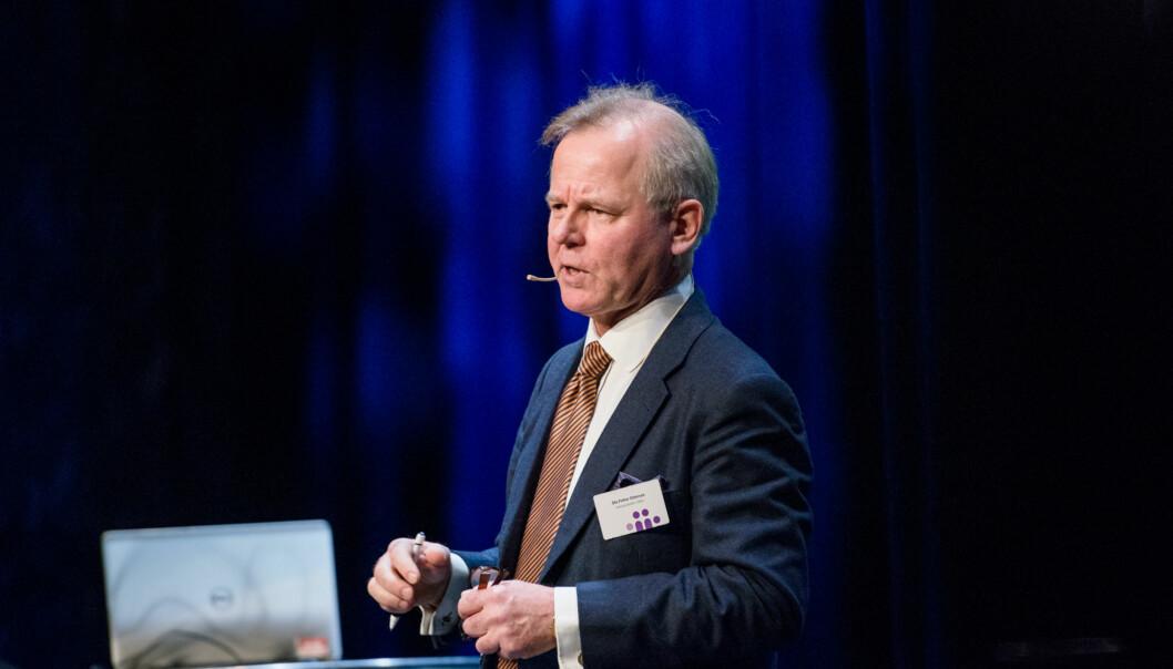 Rektor Ole Petter Ottersen på Kontaktkonferansen. Foto: Skjalg Bøhmer Vold