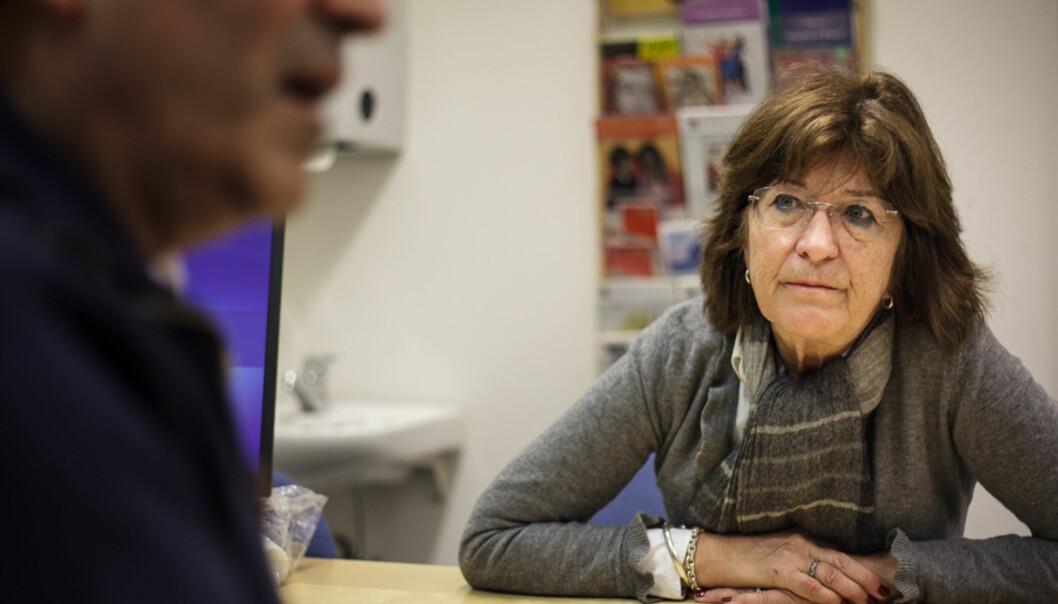 Førstelektor Nina Misvær forteller at mens det har bare vært én mannlig student på helsesøsterstudiet ved OsloMet de siste årene, ble det i år tatt opp fem menn. Foto: Nicklas Knudsen