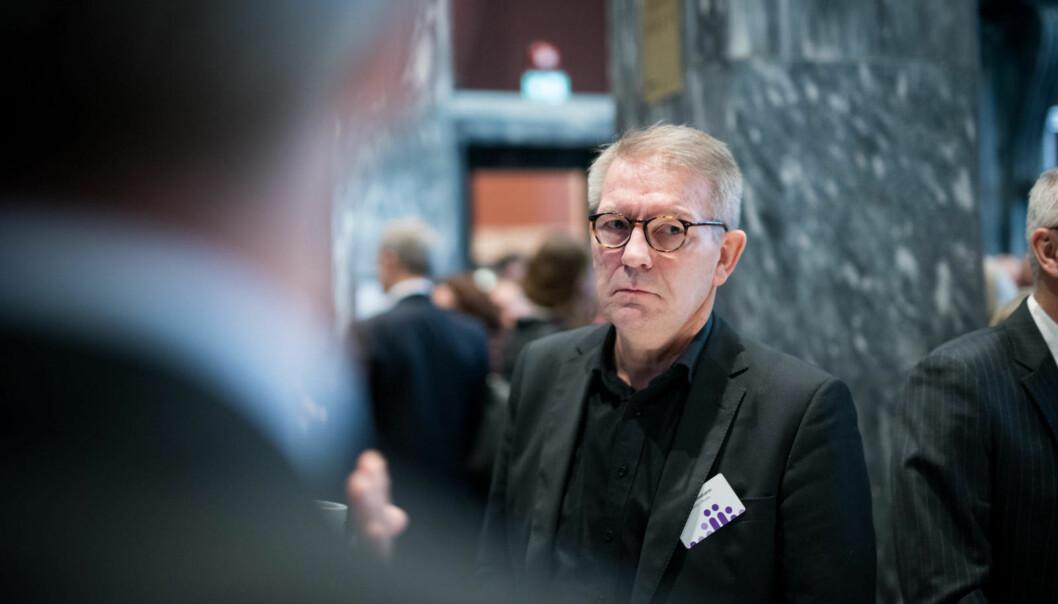 — Jeg går ikke av på grunn av en sak. Jeg har ikke hatt ønske eller ambisjoner om å sitte som rektor i seks år, sier rektor Hallgeir Gammelsæter, som ønsker å gå av to år før tida. Foto: Skjalg BøhmerVold