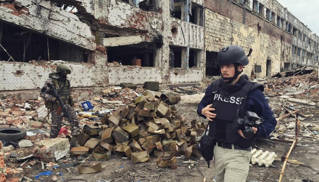 Her er Kyrre Lien på jobb i den ukrainske byen Donetsk. Nå er han på Forbes' liste over nyskapende entreprenører i Europa. Foto: Per ChristianSelmer-Anderssen