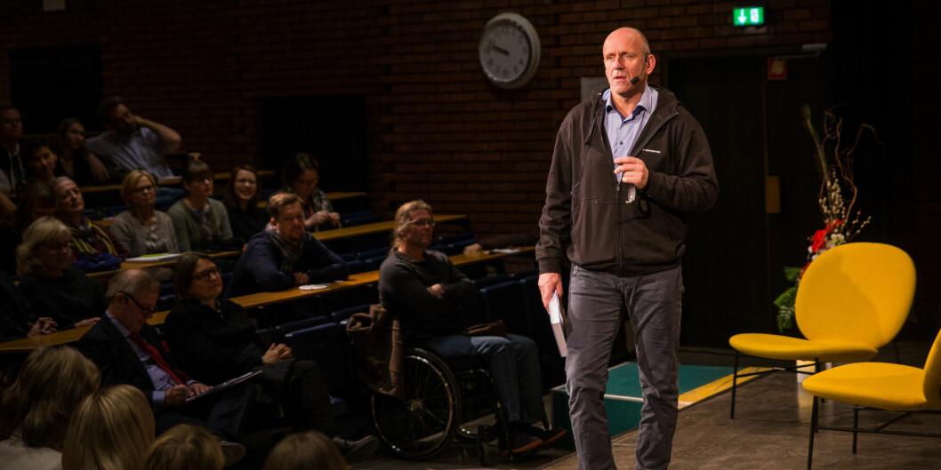 Dekan Morten Dæhlen (bildet) og forskningsdekan Finn-Eirik Johansen Universitetet i Oslo mener at det har vært og er universitetenes oppgave å etablere, utvikle og dyrke toppforskningsmiljøer. Foto: Siri Øverland Eriksen
