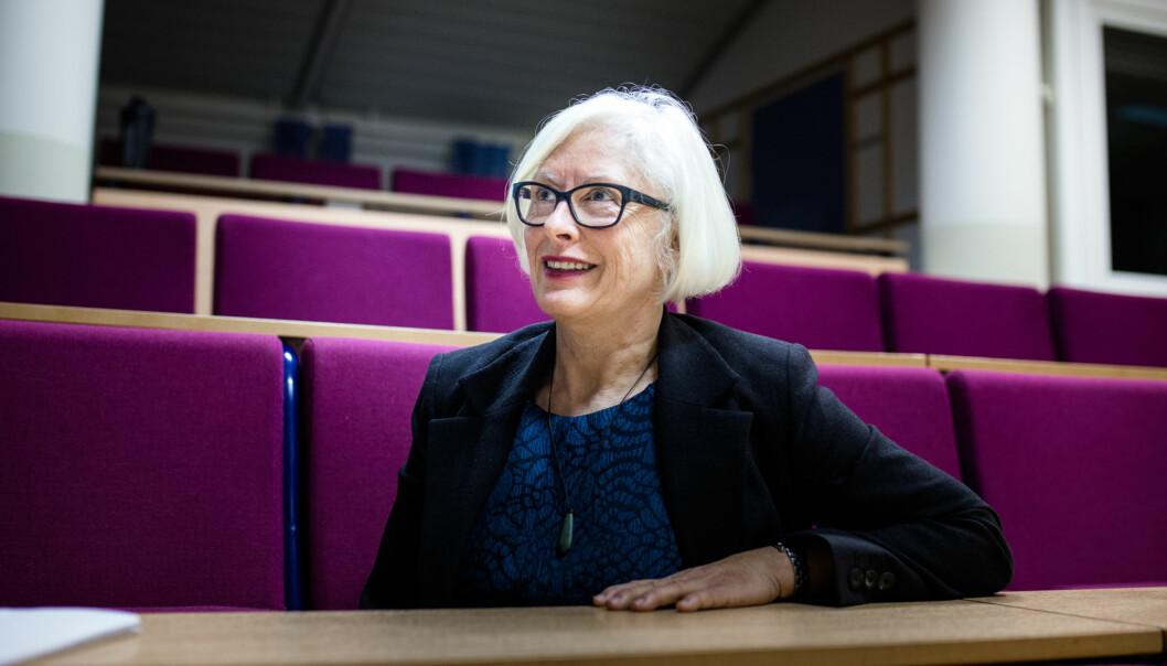 Unni Hagen er dekan ved Høgskolen i Østfold, men søker ikke en nyfireårsperiode. Foto: Henriette Dæhli