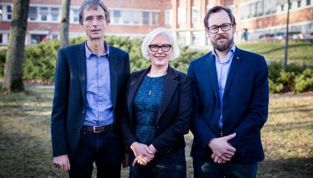 Hans Blom, Harald Holone og Unni Hagen stiller som kandidater i rektorvalget ved HiØ. Foto: Henriette Dæhli