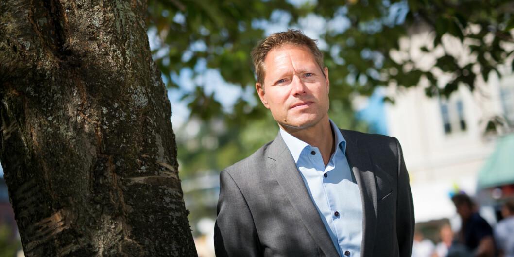 """Direktør Sveinung Skule i <span class=""""caps"""">NIFU</span> sier at det er blitt svært tidkrevende og kostbart å hente ut data fra Statistisksentralbyrå. Foto: Skjalg Bøhmer Vold"""