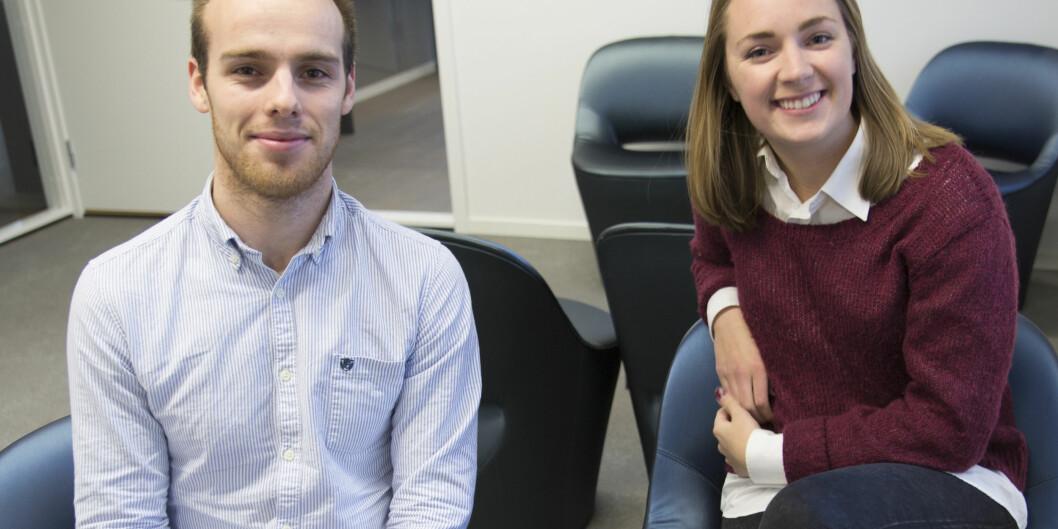 """Øyvind Aabye og Andrea Holvik Thorson fra Wiral Cable Cam og <span class=""""caps"""">NTNU</span> er blant studentene som nå får millionstøtte for å starte egenbedrift."""